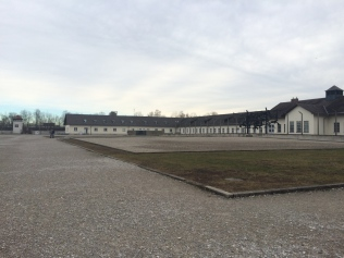 """Intake rooms, kitchen, administrative offices. The motto, """"There is one path to freedom. Its milestones are: obedience, honesty, cleanliness, sobriety, diligence, orderliness, self-sacrifice, truthfulness, love of the fatherland"""" was once written on the roof where prisoners could see it during daily roll call."""