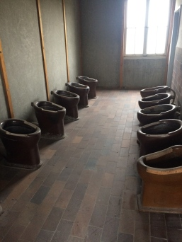 Toilets in the barracks