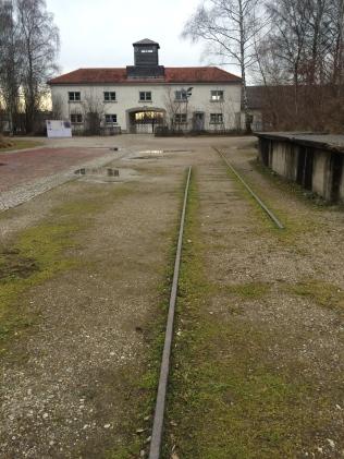 Tracks leading Prisoners to Camp